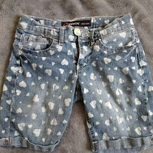 Jordache Bermuda Shorts with Hearts